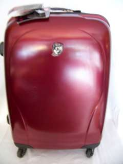 NEW HEYS XCASE METALLIC 25 4 WHEEL SPINNER UPRIGHT LUGGAGE RED