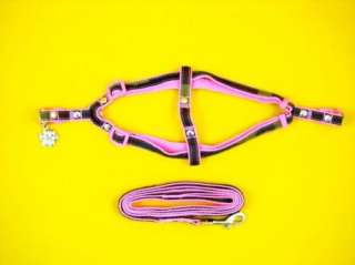 29P* Step In Dog Harness Leash Set Camouflage (PINK)#L