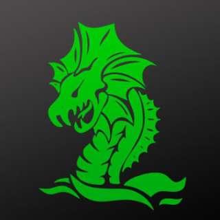 Tribal tattoo design Decal Sticker Dragon Art WRS37