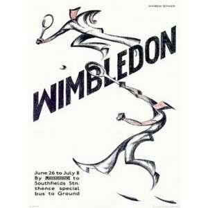 Andrew power   Wimbledon Tennis Canvas Giclee