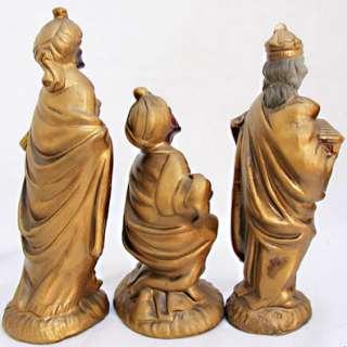 INARCO Papier Mache JAPAN CHRISTMAS NATIVITY Set Wise Men~Joseph~Mary