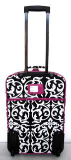 3Piece Luggage Set Travel Bag Rolling Wheel Floral Pink