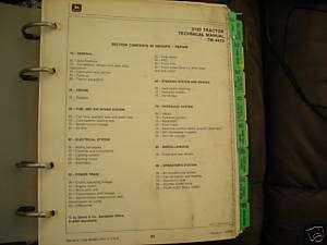 John Deere 3150 Tractor   Operation , Technical Manual