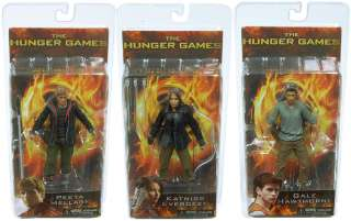 The Hunger Games Movie Series 1 7 Action Figures Set Of 3 *New