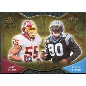 Icons NFL Reflections Die Cut #RFTP Jason Taylor Julius Peppers /40
