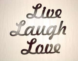 Metal Wall Art Home Decor Live Laugh Love Word Art
