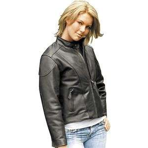 River Road Womens Race Leather Jacket   2X Large/Black