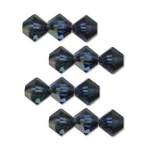 12 Sapphire Cathedral Swarovski Crystal Bicone Bead 6mm