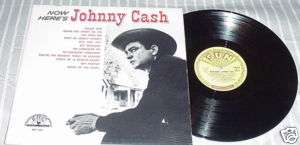 COUNTRY 33RPM LP RECORD JOHNNY CASH SUN 1255
