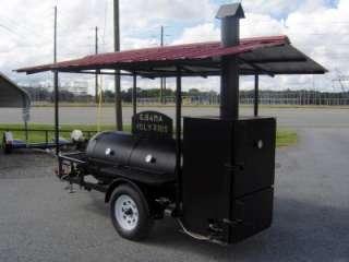 RIB BOX BBQ PIT SMOKER trailer Concession gas fryer barrel Barbecue