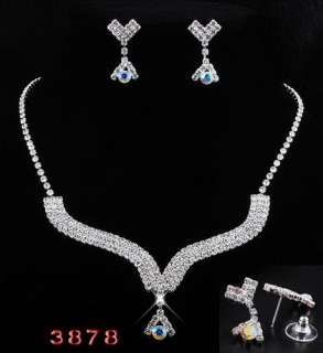 6sets 6Styles Wedding Jewelry Necklaces Earrings Czech Rhinestone