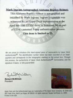 Mark Ingram Autographed Alabama Full Size Helmet Heisman 09, 20 TDs