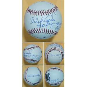 Orlando Cepeda Autographed San Francisco Giants Stat