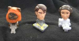 2008 MCDONALDS L0T 0F 3 STAR WARS BOBBLE HEADS