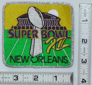 SUPER BOWL XII 12 NFL 1978 DALLAS COWBOYS NFL FOOTBALL JERSEY PATCH
