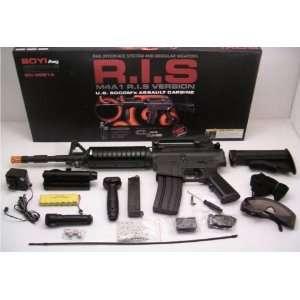 AEG Electric M16 Assault Rifle FPS 200 Airsoft Gun  Sports