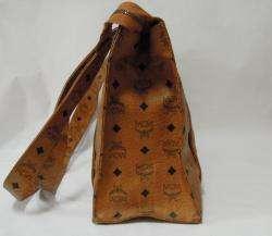 AUTH MCM MUNCHEN Brown Monogram Canvas Leather Hand Shoulder bag
