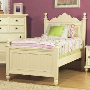 Low Post Bed (White) (Twin) 8206 530 531 401: Home & Kitchen