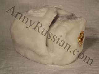 Double Headed Eagle White Eskimo Alaska Winter Aviator Gift Hat