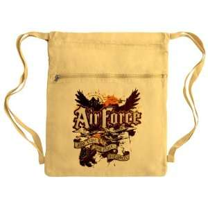 Messenger Bag Sack Pack Yellow Air Force US Grunge Any Time Any Place