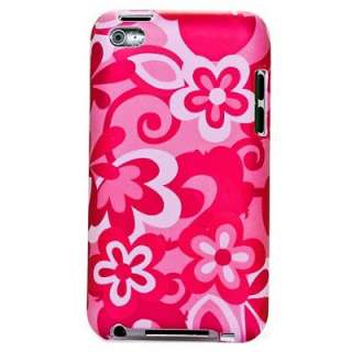iPod Touch 4G 4th Gen Pink Flowers Hard Case Cover