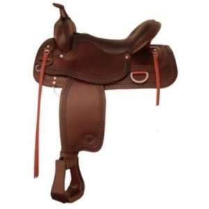 com Tex Tan Response Western Trail Saddle 16In Chocola Pet Supplies