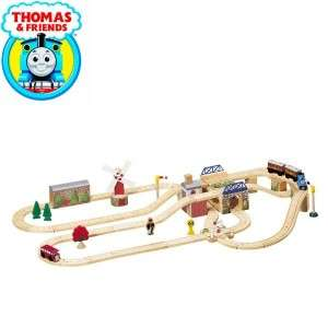 TANK Engine Wooden Tracks Trains cars Hilltop Station Race Lot Set EU