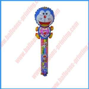 star with doraemon led balloon.flashing clapper stick