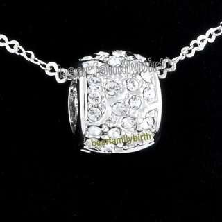 18K White gold GP SWAROVSKI Crystal necklace 590