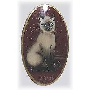 Siamese Cat Brooch 1.2x2