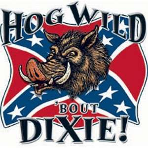 Hog Wild Bout Dixie Decal