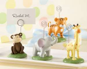 Set of 4 Born To Be Wild Animal Place Card/Photo Holders Baby Shower