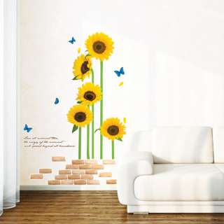 Sunflower Removable Wall Stickers Home Decals Mural