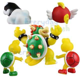 Nintendo Wii Super Mario Bros Bowser Koopa 5 Figure Set