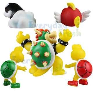 Nintendo Wii Super Mario Bros Bowser Koopa 5 Figure Set