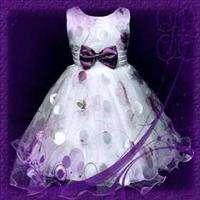 Purple Wedding Party Bridesmaid Flower Girls Dress 5 6T