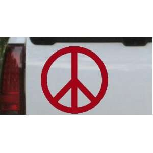 Peace Sign Symbol Car Window Wall Laptop Decal Sticker    Red 3in X