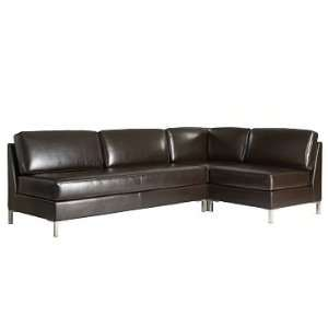west elm Leather Armless Set 3   Sofa, Single & Corner