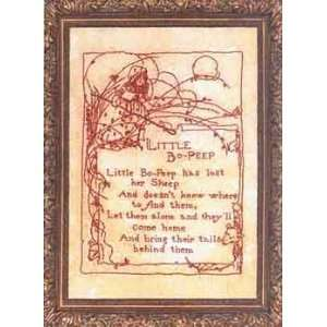 PT1541 Little Bo Peep Poem Redwork Embroidery Pattern by