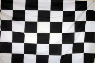 BLACK and WHITE CHECKERED RACING FLAG   NASCAR 3x5 NEW
