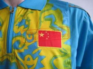 Li Ning Mans T Shirt Table Tennis,Ping Pong blue black China Team