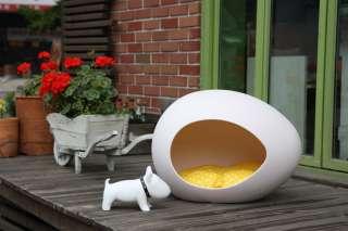 EPHATA Cute Egg Pet House Bed for Dog & Cat WHITE