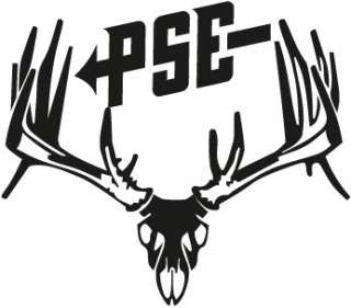 PSE Whitetail Buck Skull Hunting Decal Sticker
