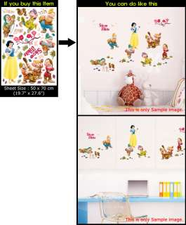 DISNEY SNOW WHITE Adhesive Wall Deco Sticker KIDS ROOM