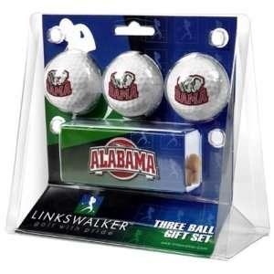 Alabama Crimson Tide NCAA 3 Golf Ball Gift Pack w/ Hat Clip