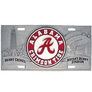 Alabama Crimson Tide Pewter License Plate