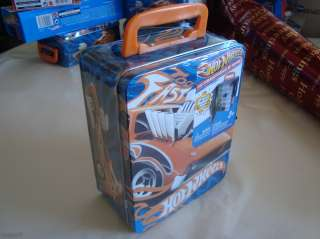 HOT WHEELS CAR STORAGE / TIN CARRYING CASE TOO FAST HOLDS 8 CARS NEW