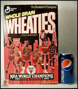 Wheaties Box   Chicago Bulls   NBA Champions 1991 & 92