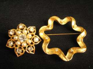 Vintage 1960s SARAH COVENTRY Convertible Starlit Trio Pin Brooch Gold