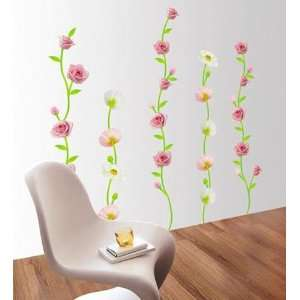 & POPPY DECOR MURAL ART WALL PAPER STICKER WDS 05